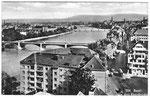 """Ansichtskarte """"Die drei Rheinbrücken"""" (Photo & Verlag Gebr.Frey Basel)"""