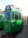 Einer der schönen und beliebten Trammotorwagen der Serie Be 4/4, Nr.469 bereit zum verschrotten, 2016