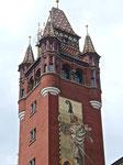 Der Rathaus-Turm mit dem Monumental-Gemäde von Wilhelm Balmer (1856-1922), Baujahr 1900, Foto: 2016