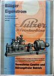 Originalprospekt der Firma Gebr.Sulzer für eine Kleinturbine für billigen Eigenstrom (30er-Jahre)