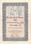Anteilscheinbogen der Genossenschaft MIGROS Basel vom Juni 1949