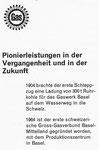 """Inserat des «Gas- und Wasserwerkes Basel» in der Zeitschrift «Strom und See» 1964"""""""