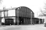 Die grosse Kongresshalle 8 (Basler Halle) am Riehenring 1975 (Diese Halle wurde auch für Handballspiele der Basler Handballclubs RTV, KV und ATV benutzt)