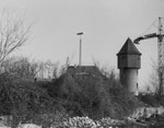 Der schöne Wasserturm beim DB-Güterbahnhof-Areal an der Wiese, 1975