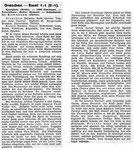National Zeitung, Saison 1945 Bericht zum Fussballspiel Grenchen - FC Basel