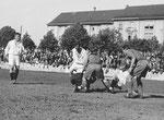 FCB-Torhüter Paul Wechlin während eines Spiels auf dem Landhof 1945-1946 / 5
