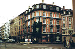 Das markante Eckhaus mit dem damals beliebten Zigarrenladen Hammerstrasse/Amerbachstrasse im Jahre 1980