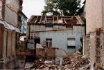 Der Abbruch des Hinterhauses Bläsiring 129, 1991