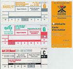 Verschiedene Messe-Bilette (Basel 97, MUBA 99, Art 31, IGEHO 2001