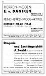 58) Herren-Moden E.v.Däniken und A.Zwahl Sanitätsgeschäft