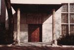 Eine hintere Eingangstür zum Kunstmueseum Basel, 1983