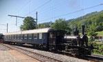 Dampflokomotive Nr.2 abfahtrsbereit in der Klus, 2021