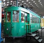 43 Jahre später - der gleiche Trammotorwagen Be 2/2 Nr.202 im Verkehrshaus Luzern im Oktober 2015 (siehe zum Vergleich dazu vorangehende Fotos Nr.185 und 186)