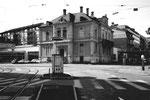 Der Aeschenplatz mit der ASAG-Garage im Jahre 1960