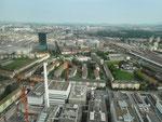 Die Fabrikationsgebäude der ROCHE, erbaut in den 50er-Jahren, müssen dem neuen und zweiten ROCHE-Turm weichen, Mai 2018