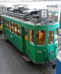 Ansicht von oben auf den Trammotorwagen Be 2/2 Nr.202 im Oktober 2015