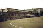 Die Fabrikationshallen der Basler Stückfärberei mit Oberlichter, 1984