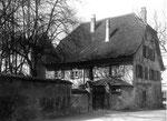 Ein altes Fischer-Haus von Kleinhüningen kurz vor dem Abbruch