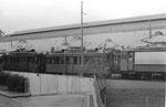Die grosse Freiluft-Abstellanlage hinter dem Depot Wiesenplatz, 1971