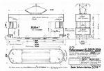 Reklame-Motorwagen Xe 2/2 Serie 2051-2054 (Zeichnung BVB)