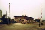 Das riesige DB-Güterareal mit dem Lagerhaus der BLG (Basler Lagerhaus-Gesellschaft), 1975