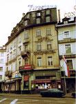 Das Hotel Continental am Centralbahnplatz Bahnhof SBB in Basel, 1975