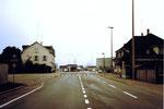 Der Zoll Hunigue an der Hüningerstrasse, (ehemalige Tramlinien 7 und 25) im Jahre 1975