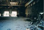 Abbrucharbeiten an der Kongresshalle (Basler Halle) ca. 1980
