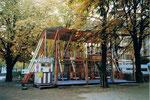 Die Herbstmesse auf der Rosentalanlage mit der Käfigbahn «Looping» im Jahre 1986