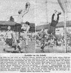 National Zeitung, Bild zum Spiel Grenchen - Basel 1945