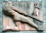 Wandrelief an der Schifflände, Künstler Max Uhlinger 1894-1981, 2001