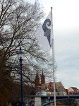 Basler Flagge mit Münster und Wettsteinbrücke, 2016