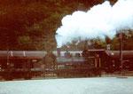 Die Dampflokomotive der VON ROLL in Choindez mit Volldampf 1995