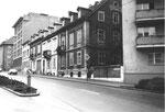 Die Schanzenstrasse vor dem Abbruch der Häuser, 1970