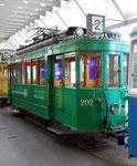 Der Trammotorwagen Be 2/2 Nr.202 im Verkehrshaus der Schweiz im Jahre 2015