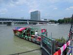 Die «gestrickte Ueli-Fähre« bei der Dreirosenbrücke, 2013