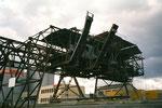 Die grosse Kohlenverteilungs- und Abfüllanlage der Rheinischen Kohlenumschlags AG im Klybeck-Hafen,  2001