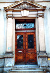 Der schöne Eingang zum Gebäude des Botansichen Gartens an der Schönbeinstrasse, 1983