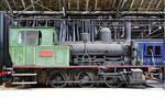Die ehemalige Rheinhafen-Dampflokomotive E 3/3 8474 hat nun einen Ehrenplatz im Locorama in Romanshorn gefunden. Foto: Locorama Romanshorn
