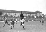 Der FCB-Torhüter Paul Wechlin im Spiel FC Basel - FC Nordstern (2:0) im Stadion Landhof im April 1943