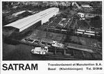 Inserat der «SATRAM Basel» in der zeitschrift «Strom und See» 1964