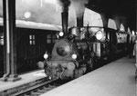 Die Dampflokomotive der Kandertalbahn im Bad.Bahnhof in Basel, 1974