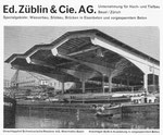 Inserat der Firma «Ed.Züblin & Cie AG  Basel-Zürich» in der Zeitschrift«Strom und See» 18964