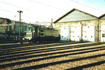 Bahnhof SBB Depotanlagen mit einer Schnellzug-Lokomotive, 1978