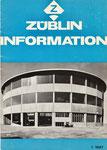 Die ZÜBLIN-Informationsbroschüre 1/1967 mit allen technischen Details zum Rundbau der Reparatur- und Maschinenhalle in Muttenz, heute PANTHEON  (Diese Broschüre ist im Besitz des Autoren)