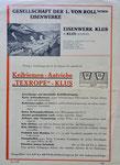 Originalprospekt des Eisenwerks Von Roll Klus für die Keilriemen-Antriebe «TEXROPE» (Vorderseite)