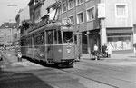 Tramzug Be 4/4 Nr.463 auf der Linie 15 an der Haltestelle Johanniterbrücke, 1970
