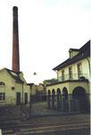 Der Haupteingang an der Badenstrasse der Baseler Stückfärberei (heute Stücki genannt) 1984