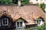 Das Dach des Hinterhauses am Bläsiring 129, 1983