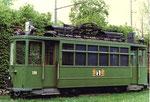 Der Trammotorwagen Be 2/2 Nr. 138 in der Abstellanlage Eglisee, 1972